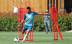 SOUTHAMPTON, ENGLAND - AUGUST 15: Sofiane Boufal  during a Southampton FC Training session pictured on August 15, 2019 in Southampton, England. (Photo by James Bridle - Southampton FC/Southampton FC via Getty Images)