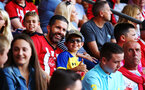 SOUTHAMPTON, ENGLAND - AUGUST 17: Southampton fans during the Premier League match between Southampton FC and Liverpool FC at St Mary's Stadium on August 17, 2019 in Southampton, United Kingdom. (Photo by James Bridle - Southampton FC/Southampton FC via Getty Images)