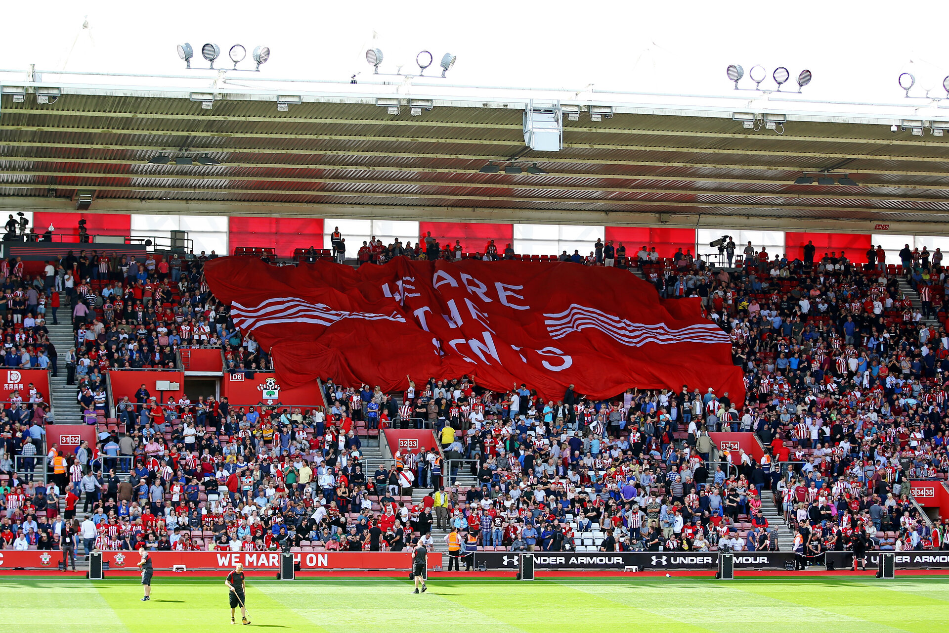 SOUTHAMPTON, ENGLAND - AUGUST 17: General View ahead of the Premier League match between Southampton FC and Liverpool FC at St Mary's Stadium on August 17, 2019 in Southampton, United Kingdom. (Photo by James Bridle - Southampton FC/Southampton FC via Getty Images)
