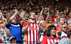 SOUTHAMPTON, ENGLAND - AUGUST 17: Fans of Southampton during the Premier League match between Southampton FC and Liverpool FC at St Mary's Stadium on August 17, 2019 in Southampton, United Kingdom. (Photo by Matt Watson/Southampton FC via Getty Images)