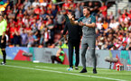 SOUTHAMPTON, ENGLAND - AUGUST 17: Ralph Hasenhuttl of Southampton during the Premier League match between Southampton FC and Liverpool FC at St Mary's Stadium on August 17, 2019 in Southampton, United Kingdom. (Photo by Matt Watson/Southampton FC via Getty Images)