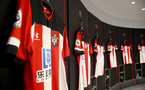 SOUTHAMPTON, ENGLAND - AUGUST 17: Inside the Southampton FC dressing room ahead of the Premier League match between Southampton FC and Liverpool FC at St Mary's Stadium on August 17, 2019 in Southampton, United Kingdom. (Photo by Matt Watson/Southampton FC via Getty Images)