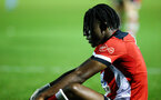 SOUTHAMPTON, ENGLAND - AUGUST 19: Dan Nlundulu  after the whistle is blown for a 1-0 loss during the match between Southampton FC and Derby County FC pictured at Staplewood Training Ground on August 19, 2019 in Southampton, England. (Photo by James Bridle - Southampton FC/Southampton FC via Getty Images)