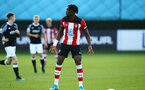 SOUTHAMPTON, ENGLAND - AUGUST 19: Dan Nlundulu  during the match between Southampton FC and Derby County FC pictured at Staplewood Training Ground on August 19, 2019 in Southampton, England. (Photo by James Bridle - Southampton FC/Southampton FC via Getty Images)