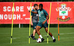 SOUTHAMPTON, ENGLAND - AUGUST 29: Kevin Danso during a Southampton FC training session at the Staplewood Campus on August 29, 2019 in Southampton, England. (Photo by Matt Watson/Southampton FC via Getty Images)