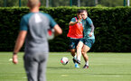 SOUTHAMPTON, ENGLAND - AUGUST 29: Pierre-Emile Hojbjerg during a Southampton FC training session at the Staplewood Campus on August 29, 2019 in Southampton, England. (Photo by Matt Watson/Southampton FC via Getty Images)