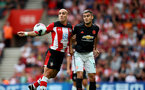 SOUTHAMPTON, ENGLAND - AUGUST 31: Oriol Romeu(R) of Southampton and Andreas Pereira(R) of Manchester United during the Premier League match between Southampton FC and Manchester United at St Mary's Stadium on August 31, 2019 in Southampton, United Kingdom. (Photo by Matt Watson/Southampton FC via Getty Images)