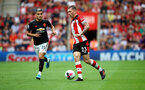 SOUTHAMPTON, ENGLAND - AUGUST 31: Pierre-Emile Hojbjerg of Southampton during the Premier League match between Southampton FC and Manchester United at St Mary's Stadium on August 31, 2019 in Southampton, United Kingdom. (Photo by Matt Watson/Southampton FC via Getty Images)