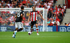 SOUTHAMPTON, ENGLAND - AUGUST 31: Jannik Vestergaard of Southampton during the Premier League match between Southampton FC and Manchester United at St Mary's Stadium on August 31, 2019 in Southampton, United Kingdom. (Photo by Matt Watson/Southampton FC via Getty Images)