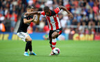 SOUTHAMPTON, ENGLAND - AUGUST 31: Andreas Pereira(L) of Manchester United and Kevin Danso(R) of Southampton during the Premier League match between Southampton FC and Manchester United at St Mary's Stadium on August 31, 2019 in Southampton, United Kingdom. (Photo by Matt Watson/Southampton FC via Getty Images)