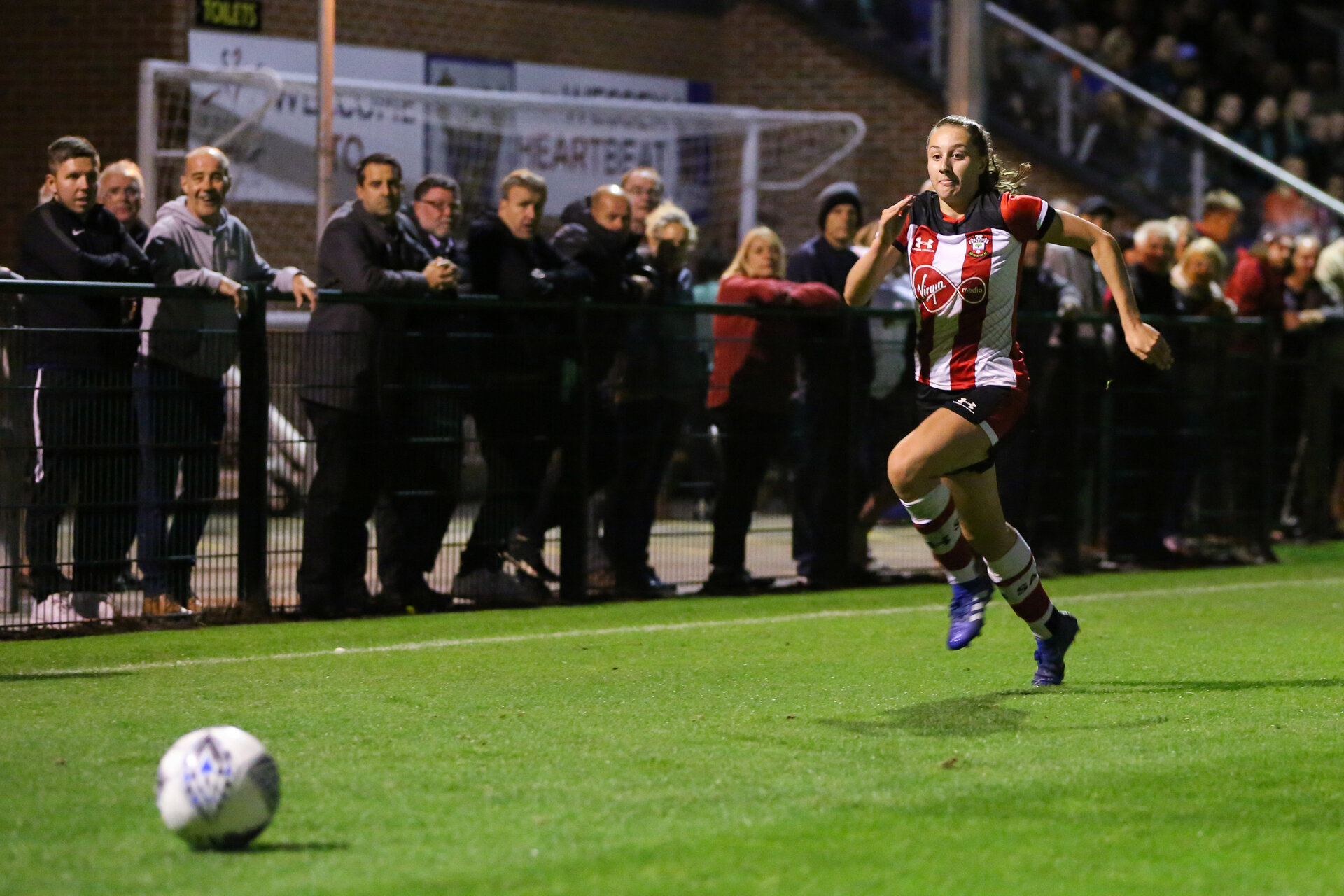 Alisha Ware during the FA Women's National League, Div One South West match between Southampton FC Women and Southampton Women, at the Testwood Community Stadium, AFC Totton, Southampton, 4th September 2019(pic by Isabelle Field)