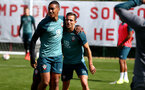 SOUTHAMPTON, ENGLAND - SEPTEMBER 05: Yan Valery(L) and Cedric Soares during a Southampton FC training session at the Staplewood Campus on September 05, 2019 in Southampton, England. (Photo by Matt Watson/Southampton FC via Getty Images)
