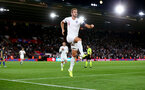 SOUTHAMPTON, ENGLAND - SEPTEMBER 10: Harry Kane of England celebrates after putting his team 2-1 up during the UEFA Euro 2020 qualifier match between England and Kosovo at St. Mary's Stadium on September 10, 2019 in Southampton, England. (Photo by Matt Watson/Southampton FC via Getty Images)