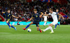 SOUTHAMPTON, ENGLAND - SEPTEMBER 10: Harry Kane(R) of England shoots and axores to make it 2-1 to England during the UEFA Euro 2020 qualifier match between England and Kosovo at St. Mary's Stadium on September 10, 2019 in Southampton, England. (Photo by Matt Watson/Southampton FC via Getty Images)