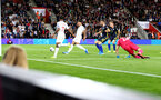 SOUTHAMPTON, ENGLAND - SEPTEMBER 10: Jadon Sancho of England scores during the UEFA Euro 2020 qualifier match between England and Kosovo at St. Mary's Stadium on September 10, 2019 in Southampton, England. (Photo by Matt Watson/Southampton FC via Getty Images)
