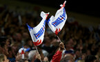 SOUTHAMPTON, ENGLAND - SEPTEMBER 10: Fans wave England flags during the UEFA Euro 2020 qualifier match between England and Kosovo at St. Mary's Stadium on September 10, 2019 in Southampton, England. (Photo by Matt Watson/Southampton FC via Getty Images)