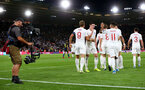 SOUTHAMPTON, ENGLAND - SEPTEMBER 10: TV cameras as England players celebrate during the UEFA Euro 2020 qualifier match between England and Kosovo at St. Mary's Stadium on September 10, 2019 in Southampton, England. (Photo by Matt Watson/Southampton FC via Getty Images)