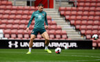 SOUTHAMPTON, ENGLAND - SEPTEMBER 12: Pierre-Emile Hojbjerg during a Southampton FC training session at St Mary's stadium on September 12, 2019 in Southampton, England. (Photo by Matt Watson/Southampton FC via Getty Images)