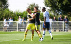 Kornelius Hansen and Jake Vokins during Premier League 2 between Southampton FC U23 and Tottenham Hotspur at Enfield Training Centre, Enfield, 13th September 2019 (pic by Isabelle Field)