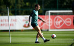 SOUTHAMPTON, ENGLAND - SEPTEMBER 17: Pierre-Emile Hojbjerg during a Southampton FC training session at the Staplewood Campus on September 17, 2019 in Southampton, England. (Photo by Matt Watson/Southampton FC via Getty Images)