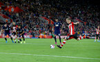 SOUTHAMPTON, ENGLAND - SEPTEMBER 20: James Ward-Prowse of Southampton scores from the penalty spot during the Premier League match between Southampton FC and AFC Bournemouth  at St Mary's Stadium on September 20, 2019 in Southampton, United Kingdom. (Photo by Matt Watson/Southampton FC via Getty Images)