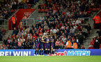 SOUTHAMPTON, ENGLAND - SEPTEMBER 20: Bournemouth players celebrate during the Premier League match between Southampton FC and AFC Bournemouth  at St Mary's Stadium on September 20, 2019 in Southampton, United Kingdom. (Photo by Matt Watson/Southampton FC via Getty Images)