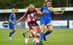Kelly Fripp during the FA Women's National League, Div One South West match between Southampton FC Women and Cheltenham Town, at the Testwood Community Stadium, AFC Totton, Southampton, 22nd September 2019 (pic by Isabelle Field)