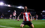 PORTSMOUTH, ENGLAND - SEPTEMBER 24: Danny Ings of Southampton celebrates after scoring his second and putting his team 2-0 up during the Carabao Cup Third Round match between Portsmouth and Southampton at Fratton Park on September 24, 2019 in Portsmouth, England. (Photo by Matt Watson/Southampton FC via Getty Images)