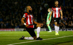 PORTSMOUTH, ENGLAND - SEPTEMBER 24: Nathan Redmond of Southampton celebrates during the Carabao Cup Third Round match between Portsmouth and Southampton at Fratton Park on September 24, 2019 in Portsmouth, England. (Photo by Matt Watson/Southampton FC via Getty Images)