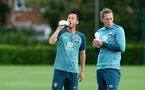 SOUTHAMPTON, ENGLAND - SEPTEMBER 26: Maya Yoshida drinks from a Wow Hydrate bottle during a Southampton FC training session at the Staplewood Campus on September 26, 2019 in Southampton, England. (Photo by Matt Watson/Southampton FC via Getty Images)