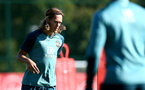 SOUTHAMPTON, UK, OCTOBER 02: Jannik Vestergaard during a Southampton FC training session at the Staplewood Campus, Southampton, UK, 2nd October 2019, (pic by Matt Watson/Southampton FC via Getty Images)