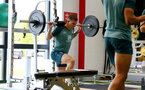 SOUTHAMPTON, UK, OCTOBER 02: Pierre-Emile Hojbjerg during a Southampton FC gym session at the Staplewood Campus, Southampton, UK, 2nd October 2019, (pic by Matt Watson/Southampton FC via Getty Images)