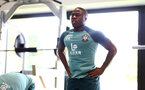 SOUTHAMPTON, UK, OCTOBER 02: Michael Obafemi during a Southampton FC gym session at the Staplewood Campus, Southampton, UK, 2nd October 2019, (pic by Matt Watson/Southampton FC via Getty Images)
