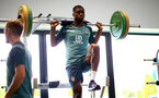 SOUTHAMPTON, UK, OCTOBER 02: Kevin Danso during a Southampton FC gym session at the Staplewood Campus, Southampton, UK, 2nd October 2019, (pic by Matt Watson/Southampton FC via Getty Images)