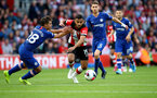 SOUTHAMPTON, ENGLAND - OCTOBER 06: Sofiane Boufal of Southampton during the Premier League match between Southampton FC and Chelsea FC at St Mary's Stadium on October 06, 2019 in Southampton, United Kingdom. (Photo by Matt Watson/Southampton FC via Getty Images)
