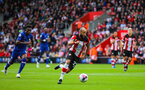 SOUTHAMPTON, ENGLAND - OCTOBER 6: Nathan Redmond of Southampton FC in possession during the Premier League match between Southampton FC and Chelsea FC at St Mary's Stadium on October 6, 2019 in Southampton, England
