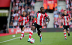 SOUTHAMPTON, ENGLAND - OCTOBER 06: Michael Obafemi during the Premier League match between Southampton FC and Chelsea FC at St Mary's Stadium on October 5, 2019 in Southampton, United Kingdom. (Photo by Chris Moorhouse/Southampton FC via Getty Images)