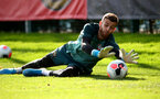 SOUTHAMPTON, ENGLAND - OCTOBER 09: Angus Gunn during a Southampton FC training session at the Staplewood Campus on October 09, 2019 in Southampton, England. (Photo by Matt Watson/Southampton FC via Getty Images)