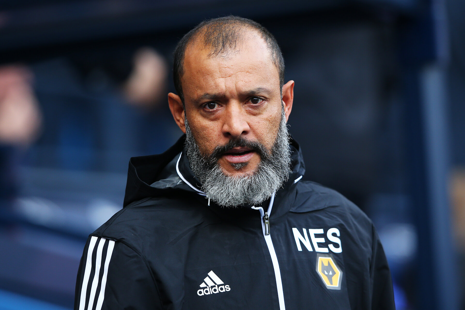 MANCHESTER, ENGLAND - OCTOBER 06: Nuno Espirito Santo, Manager of Wolverhampton Wanderers looks on prior to the Premier League match between Manchester City and Wolverhampton Wanderers at Etihad Stadium on October 06, 2019 in Manchester, United Kingdom. (Photo by Alex Livesey/Getty Images)