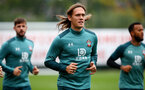 SOUTHAMPTON, ENGLAND - OCTOBER 23: Jannik Vestergaard during a Southampton FC training session at the Staplewood Campus on October 23, 2019 in Southampton, England. (Photo by Matt Watson/Southampton FC via Getty Images)