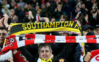 MANCHESTER, ENGLAND - NOVEMBER 02: Saints fans during the Premier League match between Manchester City and Southampton FC at Etihad Stadium on November 02, 2019 in Manchester, United Kingdom. (Photo by Matt Watson/Southampton FC via Getty Images)