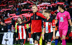 SOUTHAMPTON, ENGLAND - NOVEMBER 09: James Ward-Prowse of Southampton leads the team out with the match day mascots during the Premier League match between Southampton FC and Everton FC at St Mary's Stadium on November 09, 2019 in Southampton, United Kingdom. (Photo by Matt Watson/Southampton FC via Getty Images)