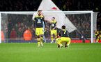 LONDON, ENGLAND - NOVEMBER 23: Dejected Southampton players during the Premier League match between Arsenal FC and Southampton FC at Emirates Stadium on November 23, 2019 in London, United Kingdom. (Photo by Matt Watson/Southampton FC via Getty Images)