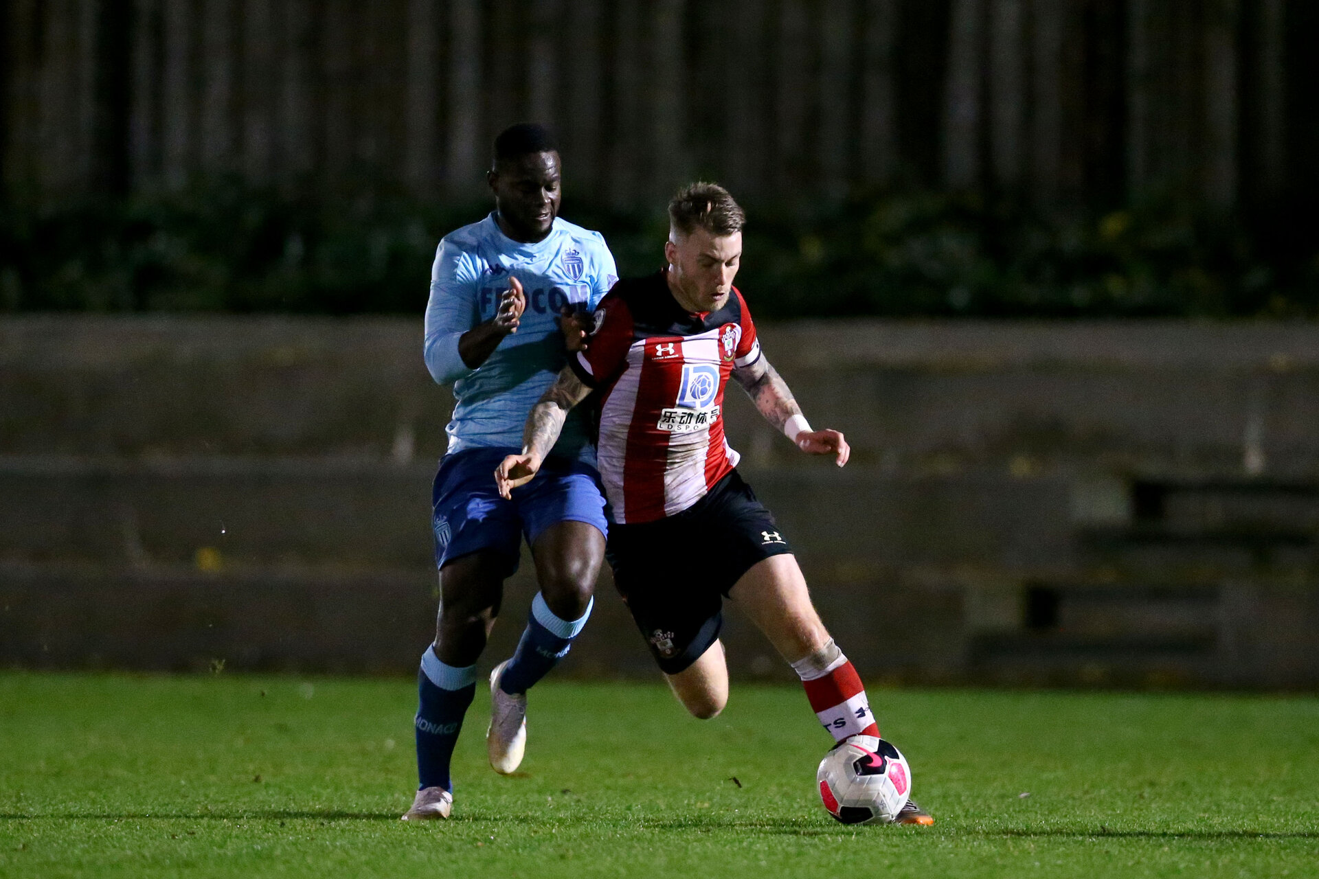 LONDON, ENGLAND - November 27: Callum Slattery of Southampton U23 during Premier League International Cup match between Southampton and Monaco at Staplewood Training Center, Southampton on November 27 2019 in London England (Photo by Isabelle Field/Southampton FC via Getty Images)