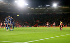 SOUTHAMPTON, ENGLAND - NOVEMBER 30: James Ward-Prowse of Southampton scores from a free kick during the Premier League match between Southampton FC and Watford FC at St Mary's Stadium on November 30, 2019 in Southampton, United Kingdom. (Photo by Matt Watson/Southampton FC via Getty Images)