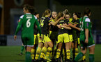 YEOVIL, ENGLAND - DECEMBER 01: goal celebration during the FA Cup, second round, at The Avenue between Yeovil and Southampton Women on December 01 2019, Yeovil, England. (Photo by Isabelle Field/Southampton FC via Getty Images)
