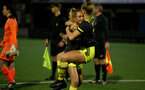 YEOVIL, ENGLAND - DECEMBER 01: Phoebe Williams penalties celebration during the FA Cup, second round, at The Avenue between Yeovil and Southampton Women on December 01 2019, Yeovil, England. (Photo by Isabelle Field/Southampton FC via Getty Images)