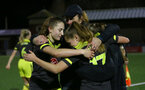 YEOVIL, ENGLAND - DECEMBER 01: celebrationduring the FA Cup, second round, at The Avenue between Yeovil and Southampton Women on December 01 2019, Yeovil, England. (Photo by Isabelle Field/Southampton FC via Getty Images)