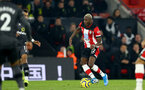 SOUTHAMPTON, ENGLAND - DECEMBER 04: Moussa Djenepo during the Premier League match between Southampton FC and Norwich FC at St Mary's Stadium on December 04, 2019 in Southampton, United Kingdom. (Photo by Isabelle Field/Southampton FC via Getty Images)