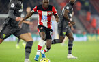 SOUTHAMPTON, ENGLAND - DECEMBER 4: Moussa Djenepo during the Premier League match between Southampton FC and with Norwich City FC at St Mary's Stadium on December 4, 2019 in Southampton, United Kingdom. (Photo by Chris Moorhouse/Southampton FC via Getty Images)
